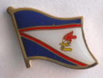 American Samoa Country Flag Enamel Pin Badge